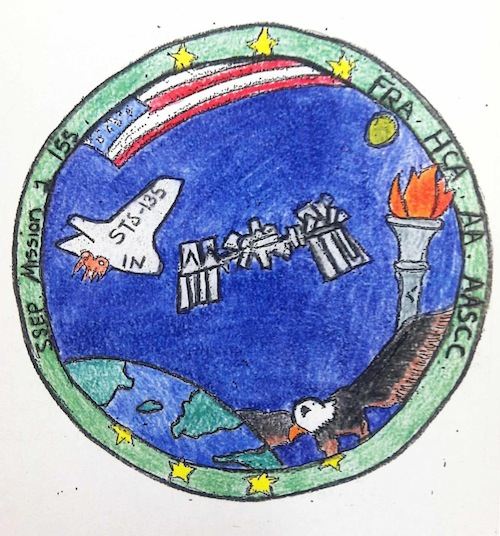 Mission Patches On Mission 4 To The International Space: Lake County, Indiana, Patch 1