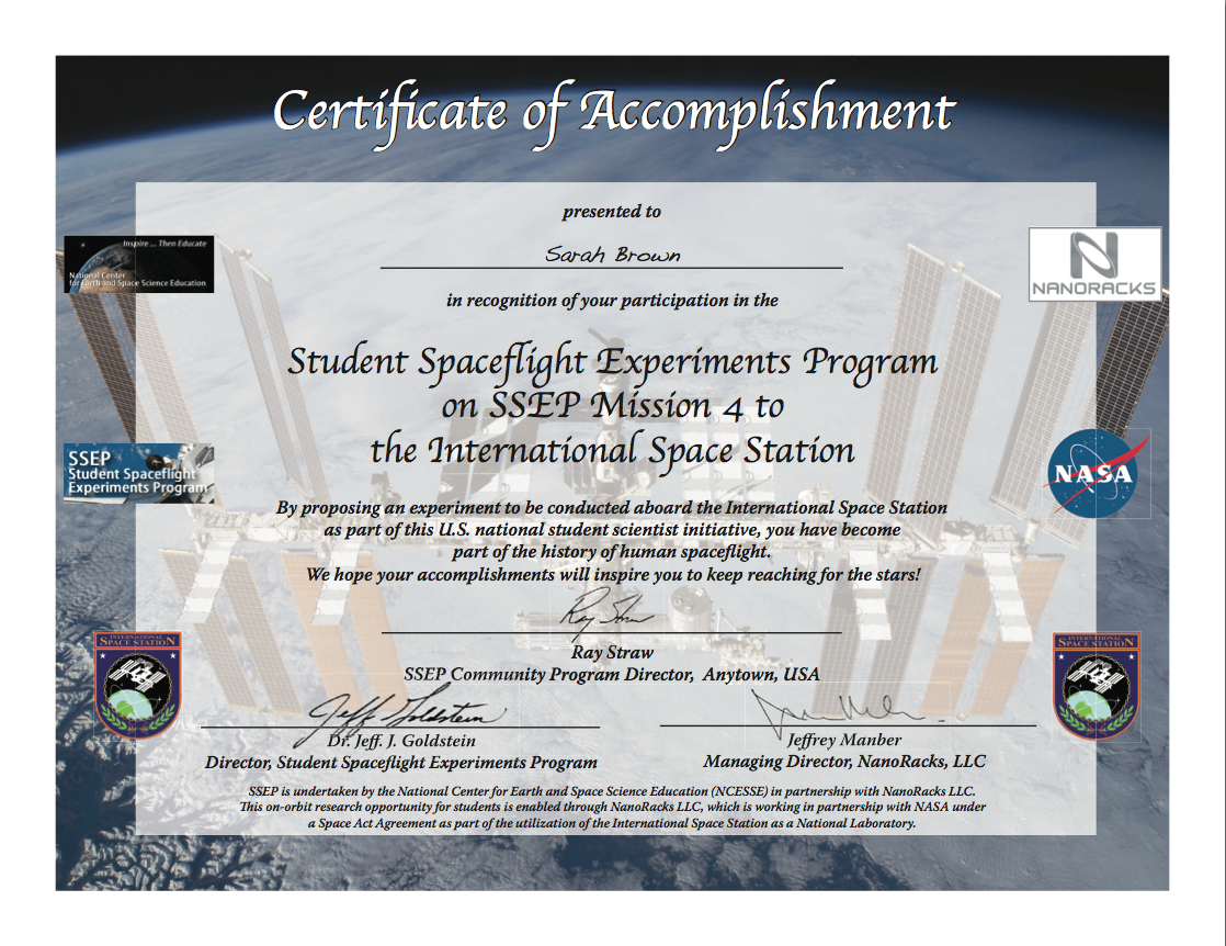 Ncesse And Clarke Institute Make Available Ssep Student Certificates