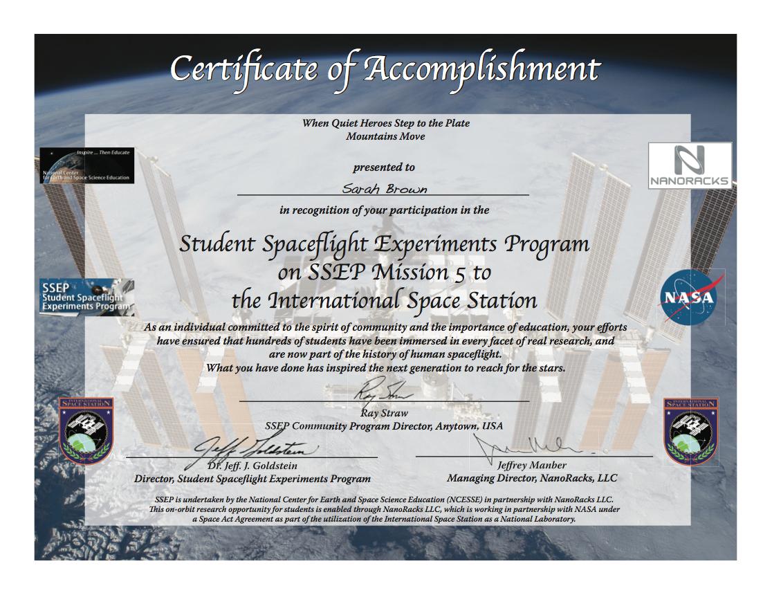 Cert SSEP M5 IndivSample