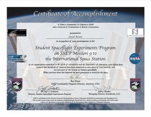 Cert SSEP M9 OrgSample
