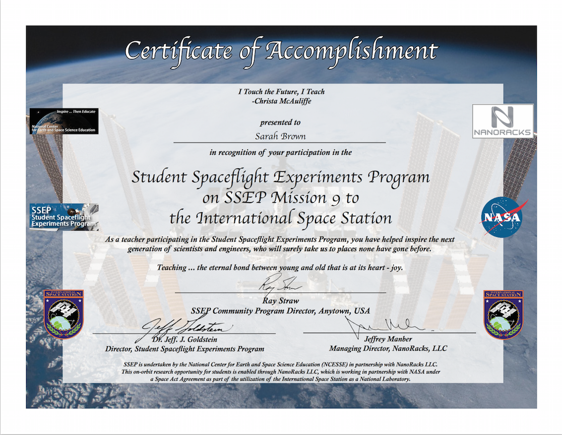 Ncesse And Clarke Institute Honored To Also Provide Certificates Of