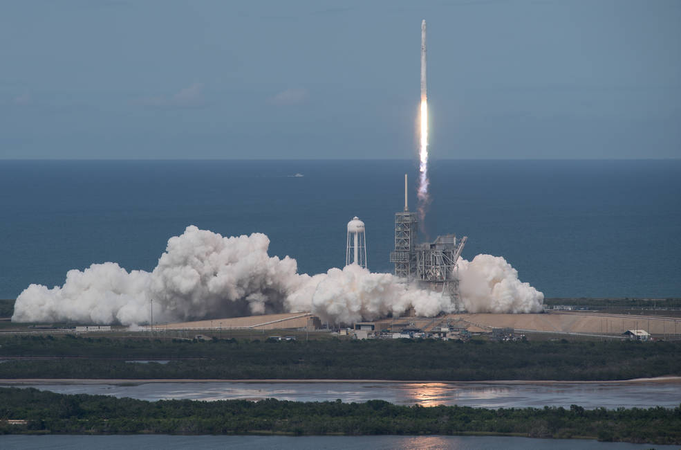 7713fe584e26f The SpaceX Falcon 9 rocket, with the Dragon spacecraft onboard – SpaceX  CRS-11 – launches from pad 39A at NASA's Kennedy Space Center in Cape  Canaveral, ...